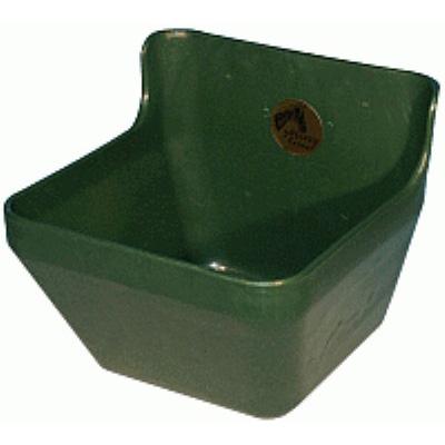 Кормушка навесная пластиковая из удароустойчивого пластика зеленого цвета емкостью 16 литров