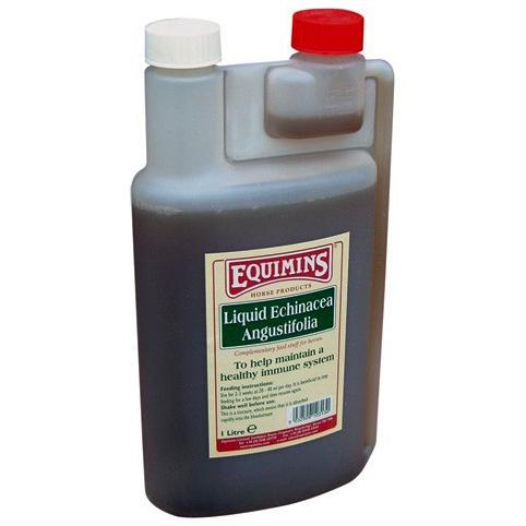 Травяной экстракт, получаемый из травы Echinacea Angustifolia, - это одно из сильнейших известных средств, стимулирующих и укрепляющих иммунную систему Equimins Echinacea Liquid Herb 1 л